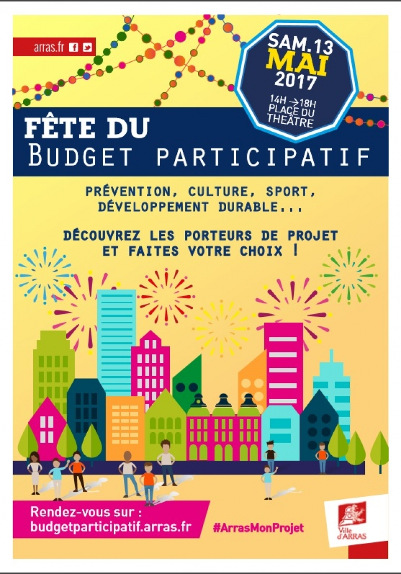 Fête du budget participatif le 13 mai sur la Place du théâtre
